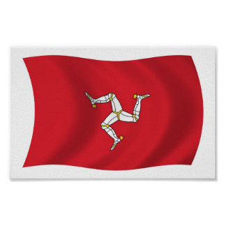 Isle of Man Flag Poster Print