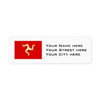 Isle of man Flag Return Address Label