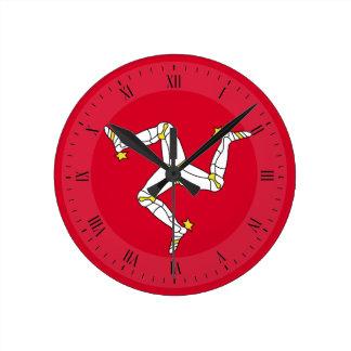 Isle of Man Flag Round Clock