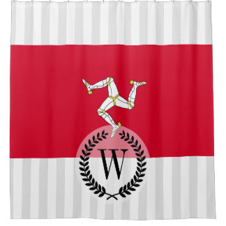 Isle of Man Flag Shower Curtain