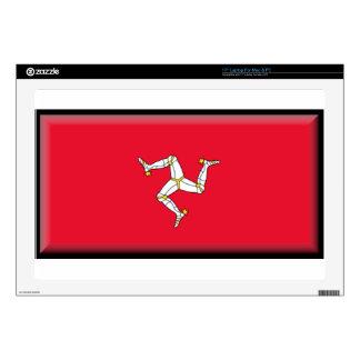 """Isle of Man Flag 17"""" Laptop Skins"""