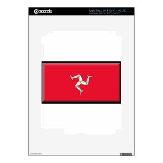 Isle of Man Flag iPad 3 Decal
