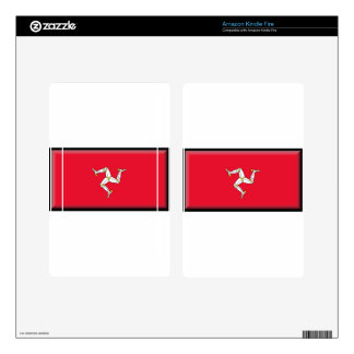 Isle of Man Flag Decal For Kindle Fire