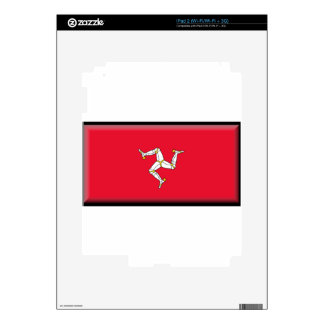 Isle of Man Flag Decals For iPad 2