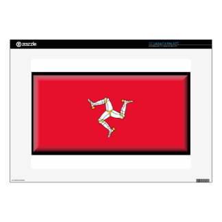 Isle of Man Flag Laptop Decals