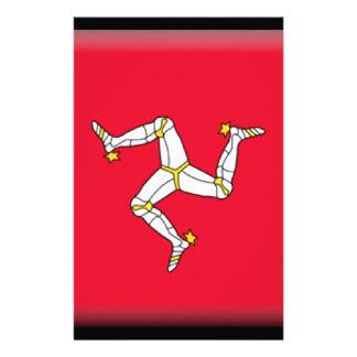 Isle of Man Flag Customized Stationery