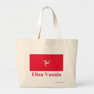 Isle of Man Flag with Name in Manx Bag