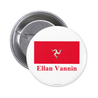 Isle of Man Flag with Name in Manx Pin