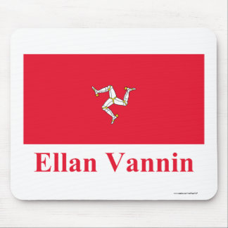 Isle of Man Flag with Name in Manx Mousepads