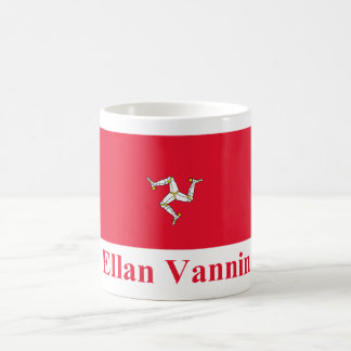 Isle of Man Flag with Name in Manx Mugs