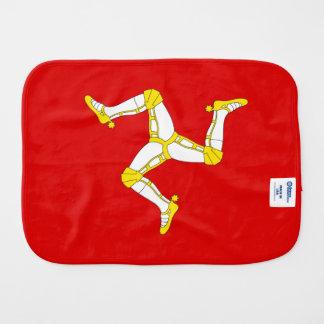 Isle of man Flag Baby Burp Cloth