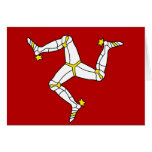 Isle Of Man High quality Flag Cards