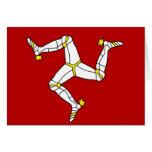 Isle Of Man High quality Flag Greeting Cards