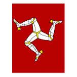 Isle Of Man High quality Flag Postcard