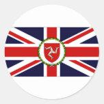 Isle of Man Lieutenant Governor Flag Classic Round Sticker