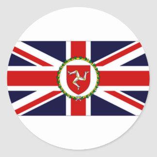 Isle of Man Lieutenant Governor Flag Classic Round Sticker