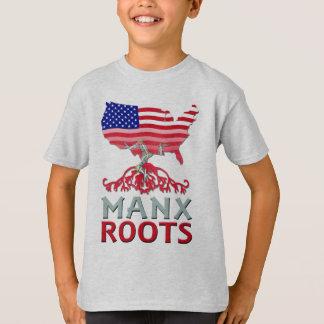 Isle of Man Manx American Kids Tee