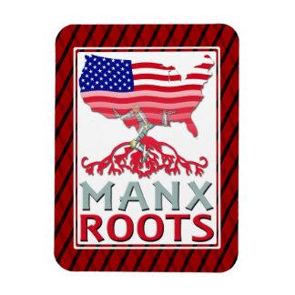 Isle of Man Manx American Magnet
