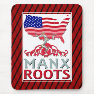 Isle of Man Manx American Mousemat Mouse Pad