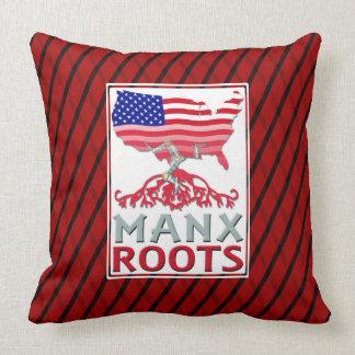 Isle of Man Manx American Throw Cushions