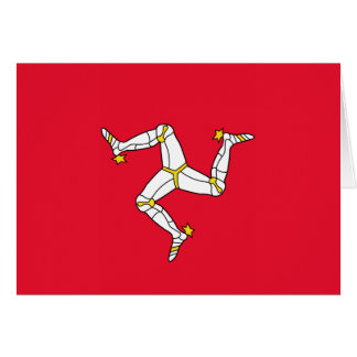 Isle of Man – Manx Flag Greeting Card