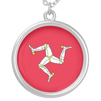 Isle of Man – Manx Flag Round Pendant Necklace