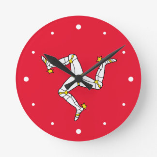 Isle of Man – Manx Flag Round Clock