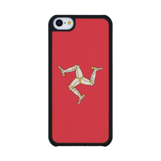 Isle of Man – Manx Flag Carved® Maple iPhone 5C Slim Case