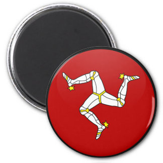 Isle Of Man quality Flag Circle 2 Inch Round Magnet