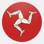 Isle Of Man quality Flag Circle Classic Round Sticker