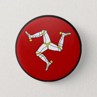 Isle Of Man quality Flag Circle Pinback Button