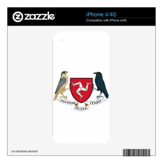 Isle of Man Republican Coat of Arms - Manx Emblem iPhone 4S Decal