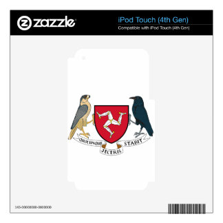Isle of Man Republican Coat of Arms - Manx Emblem Skin For iPod Touch 4G
