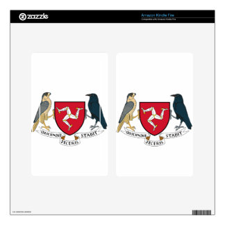 Isle of Man Republican Coat of Arms - Manx Emblem Skins For Kindle Fire