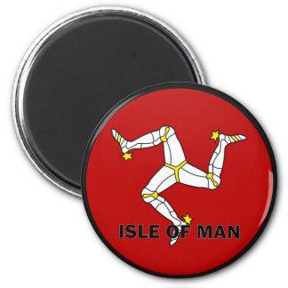 Isle Of Man Roundel quality Flag 2 Inch Round Magnet