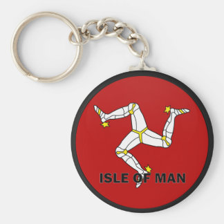 Isle Of Man Roundel quality Flag Basic Round Button Keychain