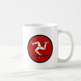 Isle Of Man Roundel quality Flag Classic White Coffee Mug