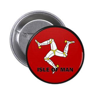 Isle Of Man Roundel quality Flag Pinback Button
