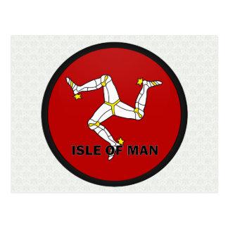 Isle Of Man Roundel quality Flag Postcard