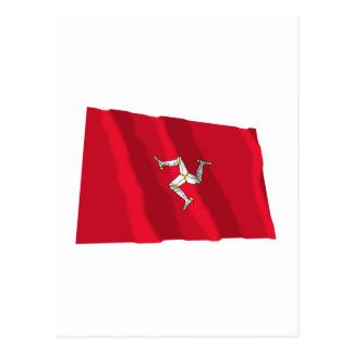 Isle of Man Waving Flag Postcard