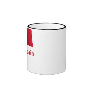 Isle of Man Waving Flag with Name in Manx Mugs
