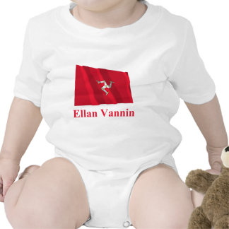 Isle of Man Waving Flag with Name in Manx Bodysuit