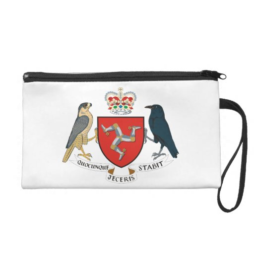 Isle Of Mann Coat Of Arms Wristlet Purse
