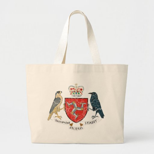 Isle Of Mann Coat Of Arms Canvas Bag