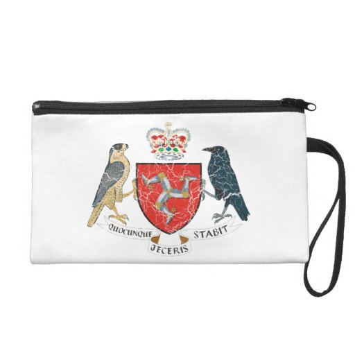 Isle Of Mann Coat Of Arms Wristlet Clutches
