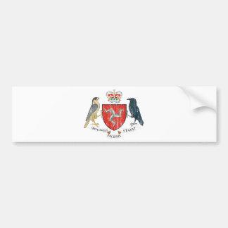 Isle Of Mann Coat Of Arms Car Bumper Sticker