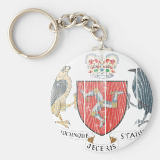 Isle Of Mann Coat Of Arms Keychain
