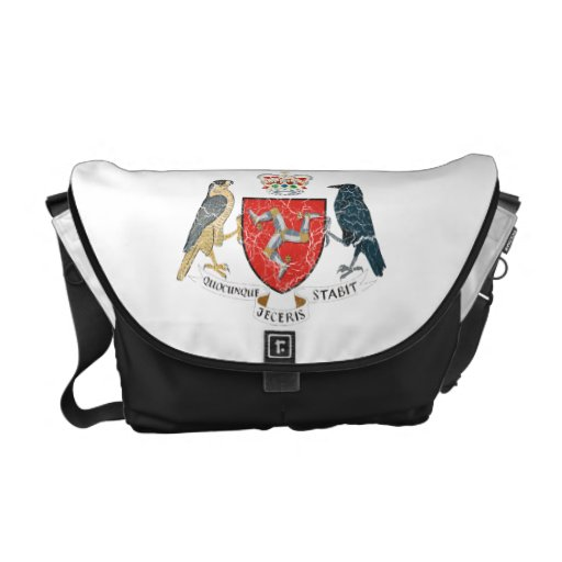 Isle Of Mann Coat Of Arms Courier Bags