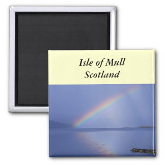 Isle of Mull Rainbow 2 Inch Square Magnet