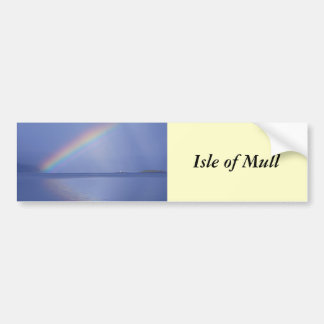 Isle of Mull Rainbow Car Bumper Sticker